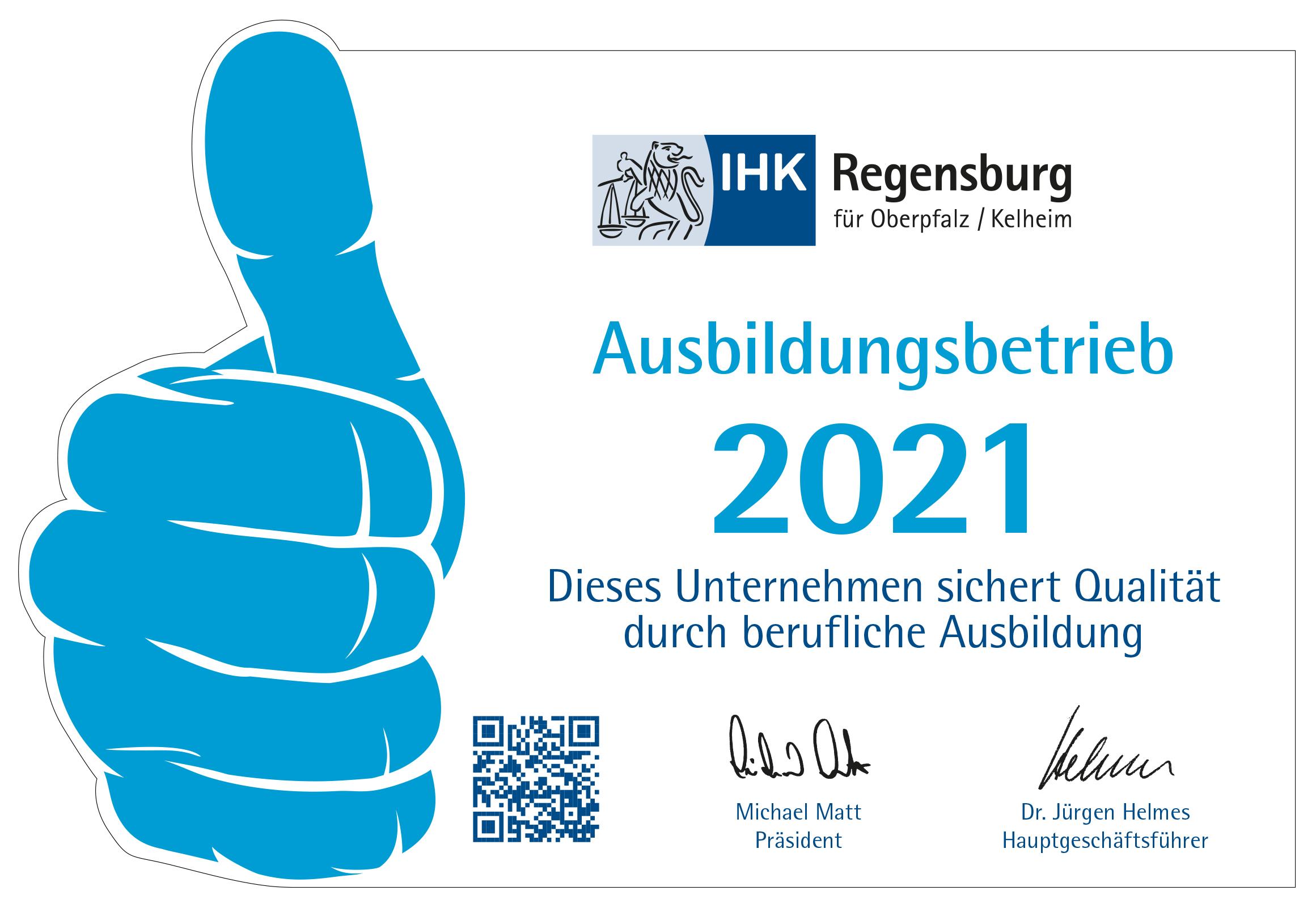 IHK Regensburg Ausbildungsbetrieb